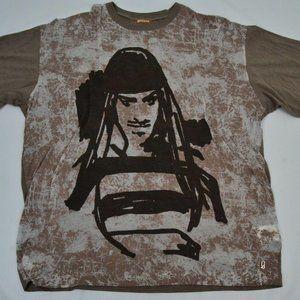 Galliano Spatter Geisha Pirate Short Sleeve tshirt